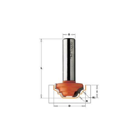 Fresa perfilada con rodam hm s 8 d 42.8 r 6.4 CMT Orange Tools 941.380.11