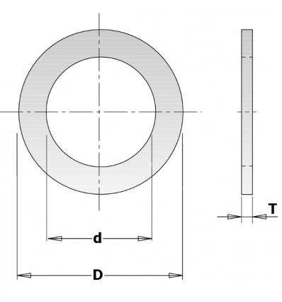 ANILLOS REDUCCIÓN D:25.4-19.05mm Esp 1.4